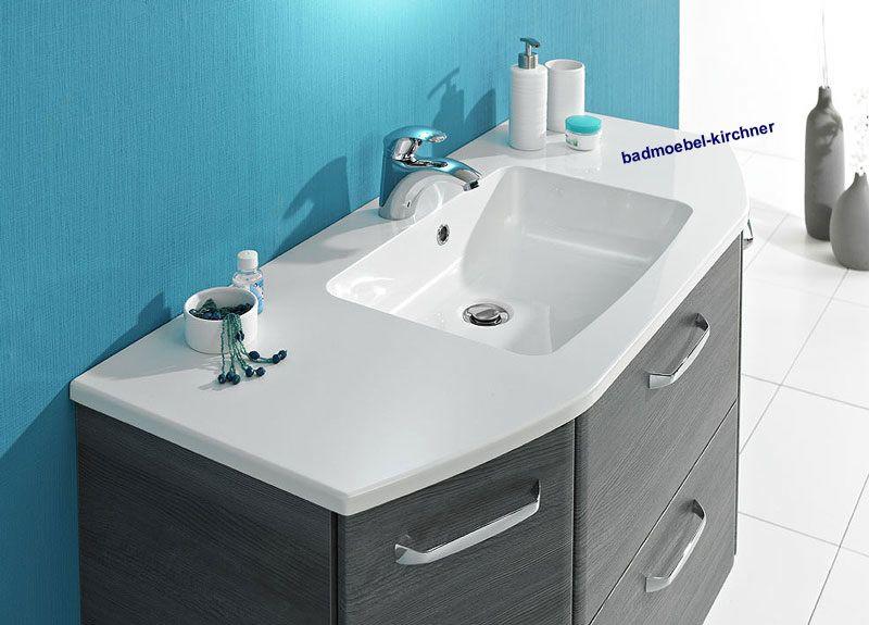 Waschtisch mit unterschrank stehend mit spiegel  ALIKA 03 Spiegelschrank Waschtisch 112 cm Graphit - Badmöbel Kirchner