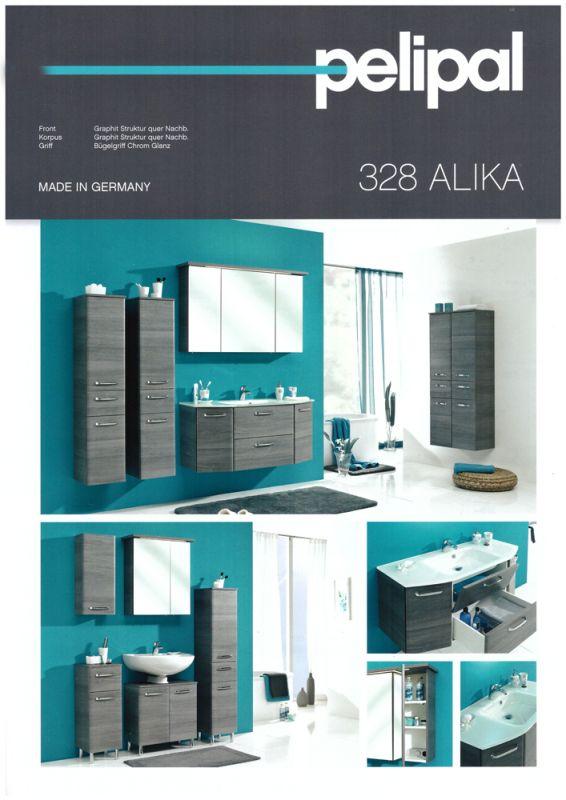 ALIKA 03 Spiegelschrank Waschtisch 112 cm Graphit   Badmöbel Kirchner